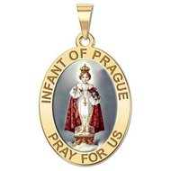 Infant of Prague Religious Medal   Color EXCLUSIVE