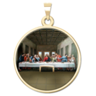 The Last Supper Religious Medal  Color EXCLUSIVE