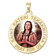 Saint Kateri Tekakwitha Religious Medal  Color EXCLUSIVE