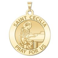 Saint Cecilia Religious Medal  Grand Piano     EXCLUSIVE