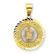 14K Tri Color Gold My Baptism Pendant