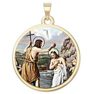 Baptism Religious Medal  Color EXCLUSIVE