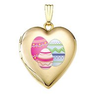 14K Yellow Gold  Color Easter Egg  Sweetheart Locket