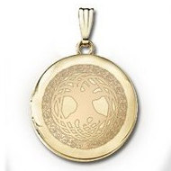 "14k Yellow Gold Round ""Tree of Life""  Picture Locket"
