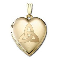 "14K Yellow Gold ""Sweetheart"" Celtic Knot Locket"