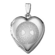 "14k White Gold ""Sweetheart"" Celtic Tree of Life Locket"