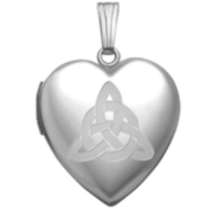 "Sterling Silver  ""Sweetheart"" Celtic Trinity Locket"