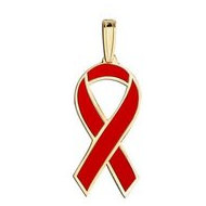 Awareness Ribbon Red Color Charm