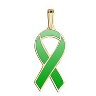Awareness Ribbon Green Color Charm
