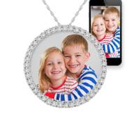 Circle Of Life Diamond Photo Pendant