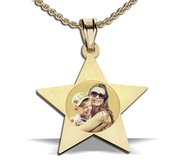 Star Shape Photo Pendant