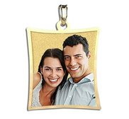 Curved Rectangle with Border Photo Pendant Charm  EXCLUSIVE