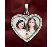 Diamond Heart Photo Pendant Picture Charm