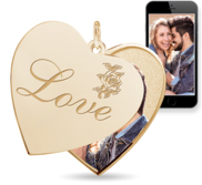 Love  Heart Swivel Photo Pendant
