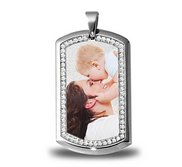 Stainless Steel Photo Engraved Dog Tag Photo Pendant