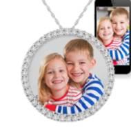 Circle Of Life Diamond Photo Pendant