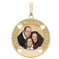 Round Photo Pendant w  3 Names