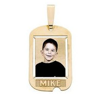 Custom Photo Dog Tag w/ 1 Name etched