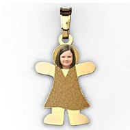 MyKids  Girl with Photo Pendant and Charm