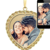 Heart With Rope Frame Photo Pendant