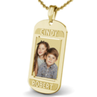 Dog Tag w/ 2 Names Etched