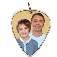 Photo Engraved Guitar Pick Shaped Pendant