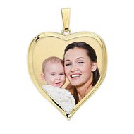 Petite Heart with Bezel Frame Photo Pendant Picture Charm