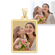 Petite Rectangle w  Border photo pendant charm