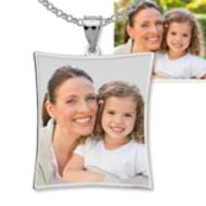 Curved Rectangle Photo Pendant Charm  EXCLUSIVE