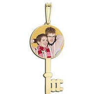 Round Key  Photo Pendant Picture Charm