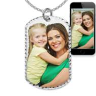 Photo Engraved Dog Tag Photo Pendant