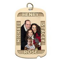 Dog Tag w  4 Names Etched