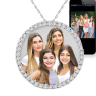 Circle Of Life Cubic Zirconia Photo Pendant