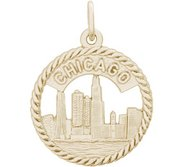 ILLINOIS CHICAGO SKYLINE ENGRAVABLE