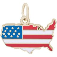USA MAP COLORED ENGRAVABLE
