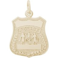 POLICE BADGE ENGRAVABLE