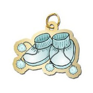 Baby Shoes   Boy Charm