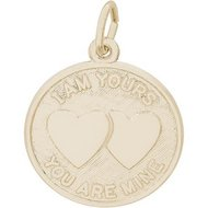 I AM YOURS HEARTS ENGRAVABLE
