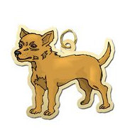 Silver or Gold Chihuahua Charm