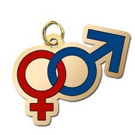 Male and Female Symbol Charm