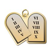 Ten Commandments Charm