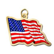 United States of America Flag Charm