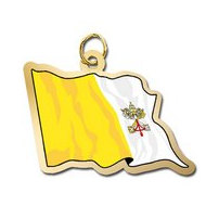 Vatican City Flag Charm
