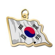 South Korea Flag Charm