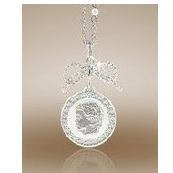 Round Shaped Framed Pendant w/ Diamonds