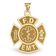 Personalized Firefighter EMT Charm