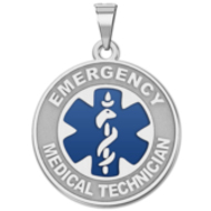 EZ Sterling Silver EMT Medical ID Charm or Pendant