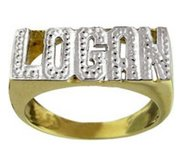 Diamond Man s Name Ring