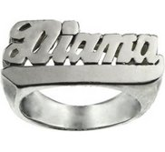 Woman s Italic Name Ring