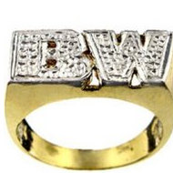 Diamond Men s Initial Ring